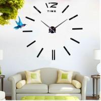 Большие настенные часы 3D  DIY Clock  черные