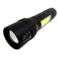 Фонарь  аккумуляторный  USB с боковой подсветкой, с прищепкой на карман