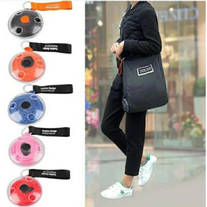 Складная компактная сумка-шоппер Shopping bag to roll up.Сумка для покупок