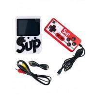 Портативная игровая приставка на 400 игр dendy SEGA 8bit SUP Game Box  с джойстиком Белая
