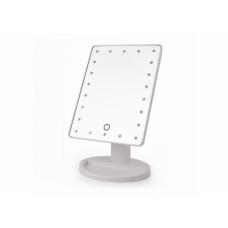 Зеркало для макияжа с подсветкой Large LED Mirror 22 LED Белое