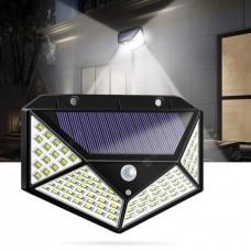 LED фонарь прожектор  светильник на солнечной батарее с датчиком движения Solar Wall Lamp. Уличный LED фонарь на солнечной батарее