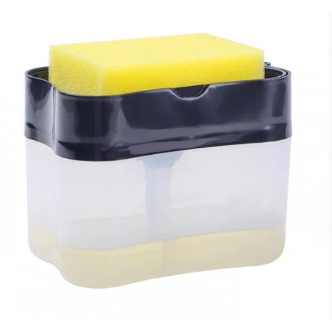 Нажимной Дозатор диспенсер для моющего средства с местом для губки Sponge Caddy диспенсер для моющего