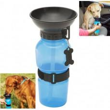 Дорожная поилка для собак Aqua Dog  550 мл голубая
