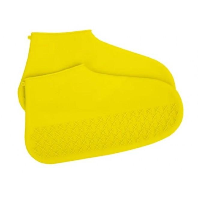 Силиконовые чехлы бахилы для обуви от дождя и грязи размер S 32-36 размер желтые