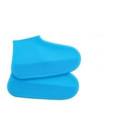 Силиконовые чехлы бахилы для обуви от дождя и грязи размер S 32-36 размер голубые