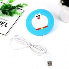 Силиконовая USB подставка для чашки с подогревом Coaster Pad (под чашку кружку)  Dora голубая