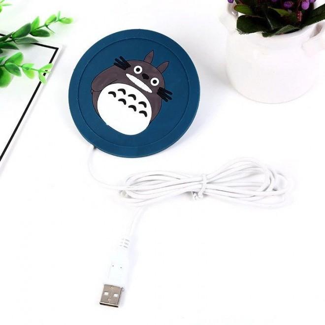 Силиконовая USB подставка для чашки с подогревом Coaster Pad (под чашку кружку) Chinchilla синяя