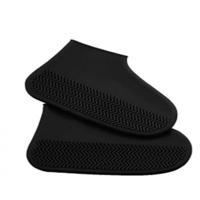 Силиконовые чехлы бахилы для обуви от дождя и грязи размер L 42-45 черные