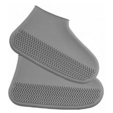 Силиконовые чехлы бахилы для обуви от дождя и грязи размер S 32-36 размер   серые
