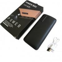 Power Bank Smart Tech 5000 mAh c фонариком кожа