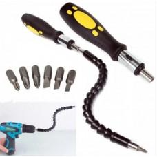 Отвертка Snake Bit с гибкой  насадкой-удлинителем для отвертки или дрели.