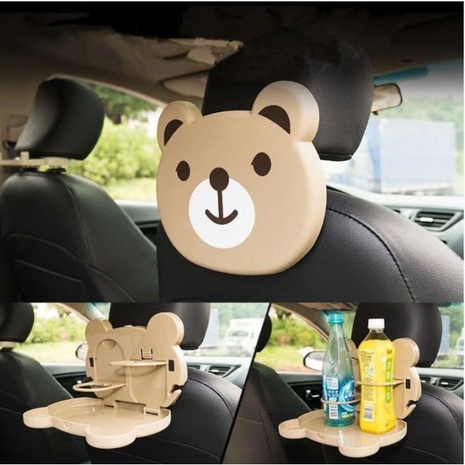 Детский столик для подголовника автомобиля CARTOON CAR TRAY TABLE медвеженок