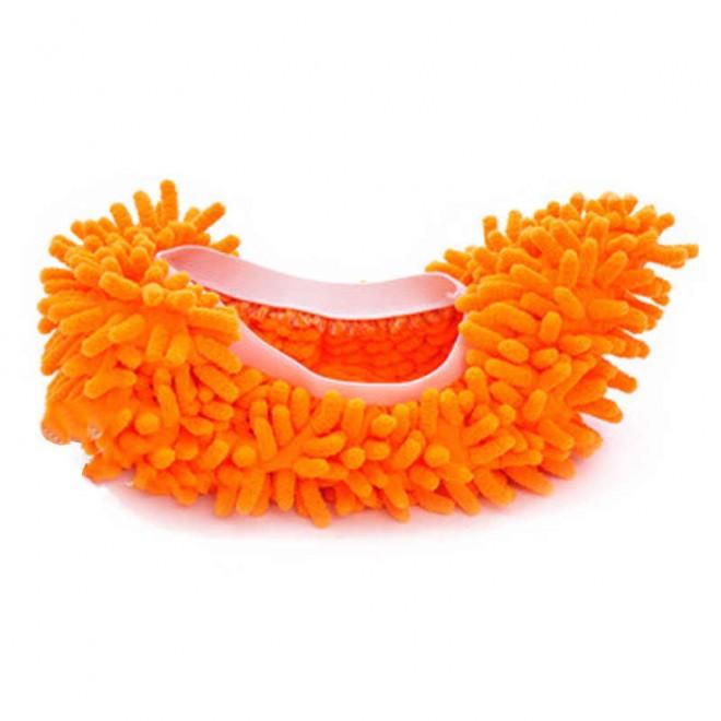 Чехлы бахилы тапочки для уборки оранжевые