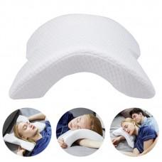 Подушка ТОННЕЛЬ для шеи из пены с эффектом памяти изогнутая | Ортопедическая изогнутая подушка под шею