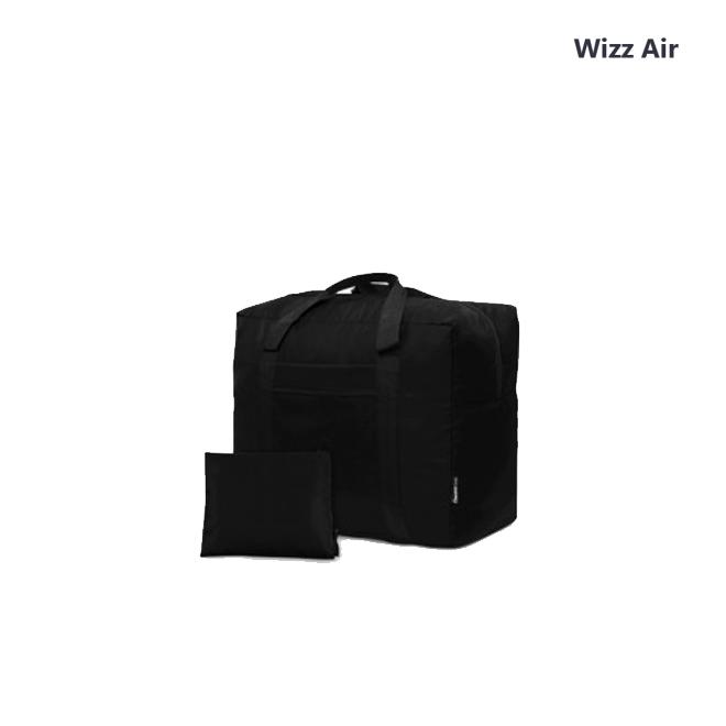 Дорожная сумка для ручной клади Coverbag чорная 40*30*20 см Wizzair