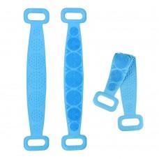 Двухсторонняя силиконовая мочалка-массажер для тела Silica Gel Bath Brush голубая