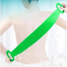 Двухсторонняя силиконовая мочалка-массажер для тела Silica Gel Bath Brush салатовый