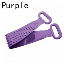 Двухсторонняя силиконовая мочалка-массажер для тела Silica Gel Bath Brush фиолетовая