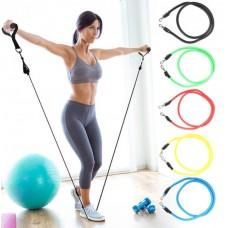 Набор трубчатых эспандеров для фитнеса и упражнений 5 жгутов NEW Power Resistance Band.