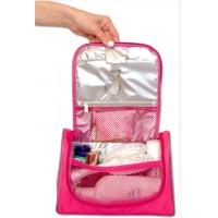 Дорожный органайзер для косметики  C025 розовый