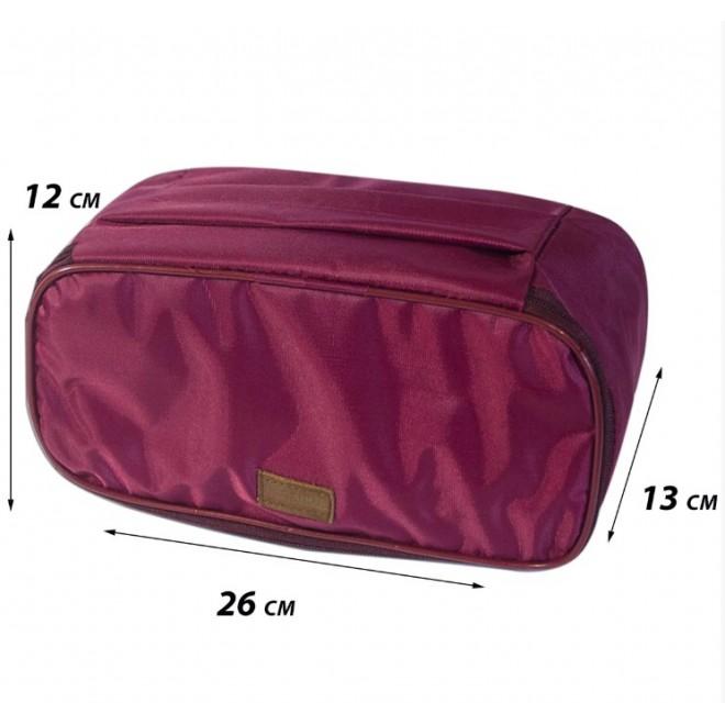 Дорожная сумка-органайзер для белья бордо C001