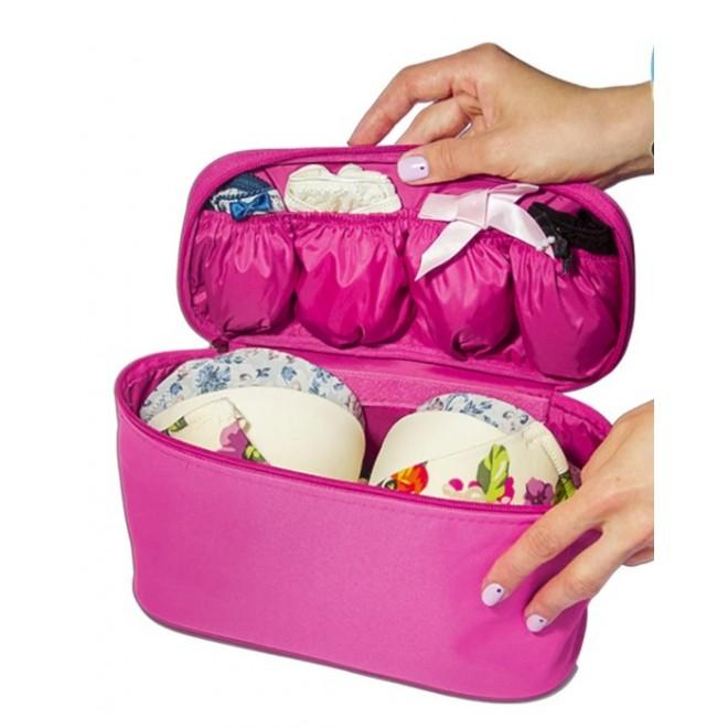 Дорожная сумка-органайзер для белья розовая C001