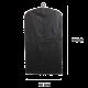 Чехол для одежды черный  60*90 см