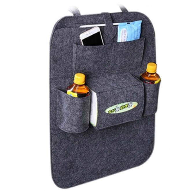 Органайзер для спинки сиденья автомобиля Vehicle mounted storage bag т.серый