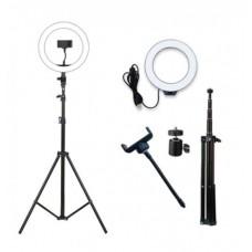 Профессиональная LED RING D 26 см кольцевая светодиодная лампа для фото / визажиста / блогера / салона красоты .Кольцевой свет со штативом