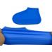 Силиконовые чехлы бахилы для обуви от дождя и грязи размер L 42-45 синие
