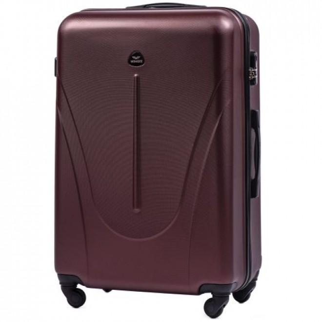Пластиковый чемодан на колесах Wings 888 L бордовый