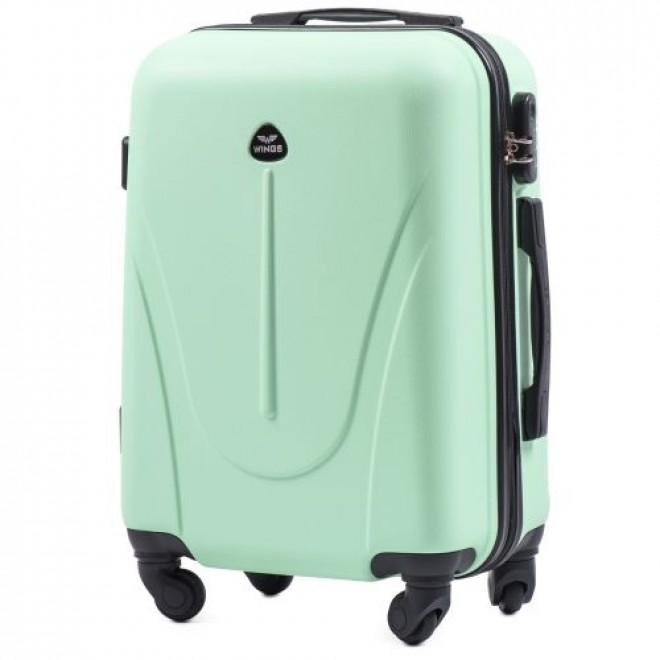 Пластиковый чемодан на колесах Wings 888 S мятный