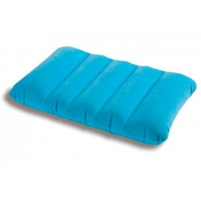 Подушка надувная Intex Pillow голубая 43х28х9 см