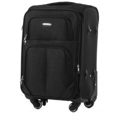 Тканевый чемодан Wings 214 маленький S на 4 колесах черный