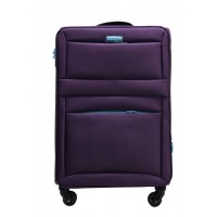 Чемодан Wings 2861 тканевый на 4 колесах  S фиолетовый