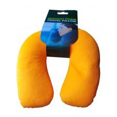 Антистрессовая Подушка  под шею Подкова оранжевая