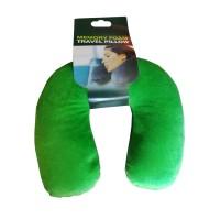 Антистрессовая Подушка  под шею Подкова зеленая
