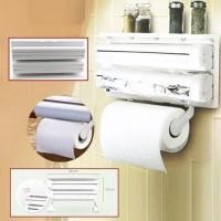 Кухонный тройной держатель  TRIPLE PAPER DISPENSER 3 в 1 для бумажных полотенец, пищевой пленки и фольги