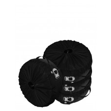 Комплект чехлов для колес Coverbag Premium S черный 4шт.