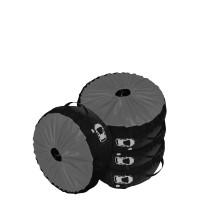 Комплект чехлов для колес Coverbag Premium S серый 4шт.