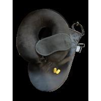 Набор Premium подушка Coverbag для путешествий черный  маска для сна
