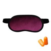 Набор для сна Coverbag бордо (маска + беруши)