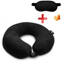 Подушка Coverbag для путешествий черная  маска для сна