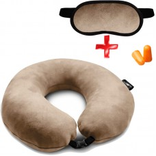 Подушка Coverbag для путешествий пудра  маска для сна