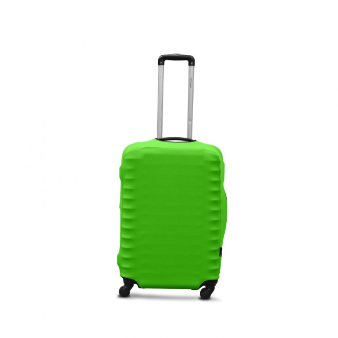 Чехол на чемодан Coverbag дайвинг S салатовый