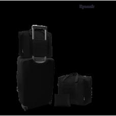 Дорожная сумка для ручной клади Coverbag черная 40*25*20 см RyanAir