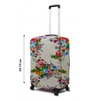 Чехол для чемодана Coverbag неопрен  L цветы