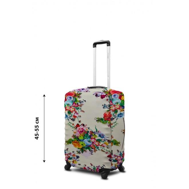Чехол для чемодана Coverbag неопрен S цветы