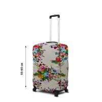 Чехол для чемодана Coverbag  неопрен  M цветы